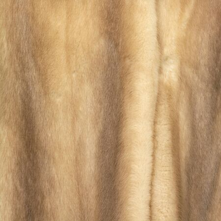 Texture of natural brown and beige fur with beautiful folds