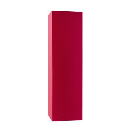 Red cardboard box rectangular