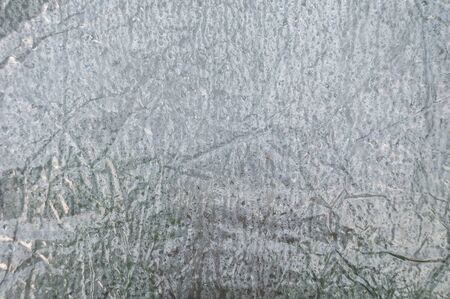 Condensation on a plastic film. Global warming with a greenhouse effect