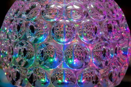 Vintage Transparent Multicolored Disco Party Ball Stock fotó