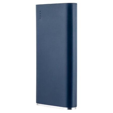 Metall external flash Hdd drive 2.5 or 3.5 inch. Blue color without usb cable on white isolated background