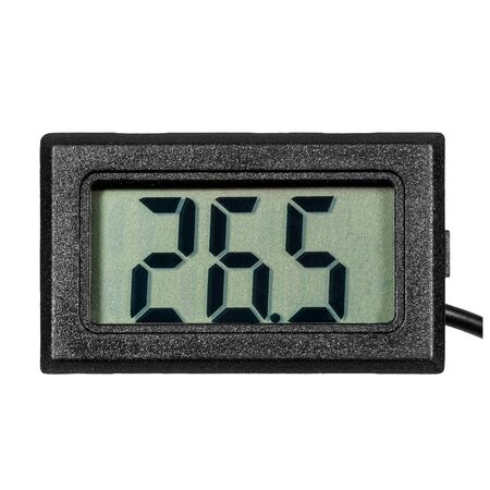 Digital thermo-hygrometer with numbers on the LCD display isolated on white background Stock fotó
