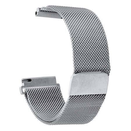 Watchband metal silver round without watch