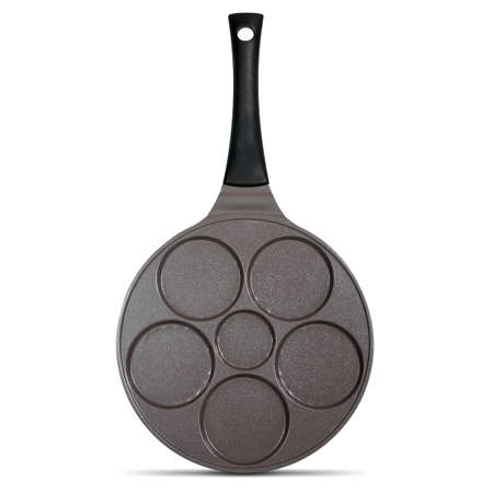 Round pan with indentations for making traditional pancakes