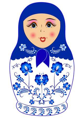 russian doll matreshka Ilustração