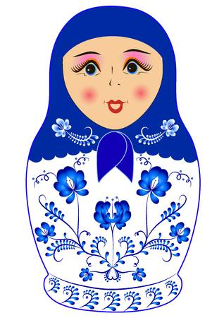 matriosca: russian doll matreshka Illustration