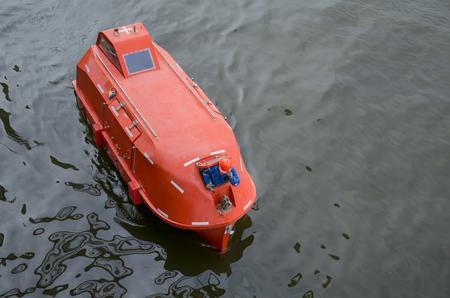 lifeboat: Lifeboat at sea Stock Photo