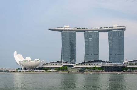 Singapore - August 20: Marina Bay Sands – one of the most improbable and recognizable hotels in the world on August 20, 2014  in Singapore.
