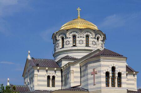 Sevastopol, Crimea - June 01: The Vladimir cathedral in Chersonese on June 01, 2015  in Sevastopo, Crimea.