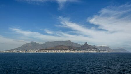 Cape Town, Republic of South Africa - April 09: Landscape of Table mountain on April 09, 2018 in Cape Town, Republic of South Africa. Stok Fotoğraf