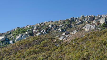 Stony flank of hill Stok Fotoğraf