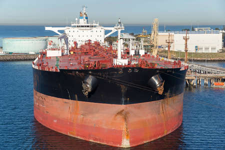 Large tanker close by loading berth