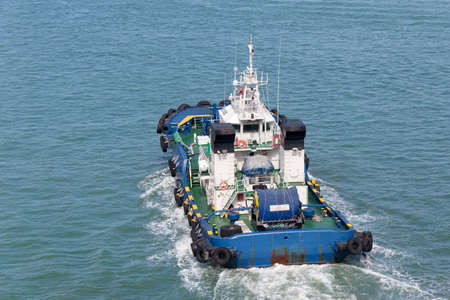 Tugboat  after mooring operation