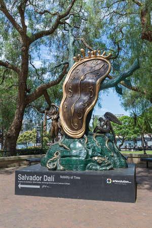 Sydney, Australia - January 9: Salvador Dali sculpture at street in Sydney on January 9, 2019 in Sydney, Australia.