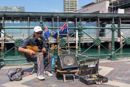 Sydney, Australia - January 9: Street musician in Sydney on January 9, 2019 in Sydney, Australia.