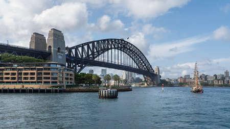 Sydney, Australia - January 9: Harbour Bridge the biggest arched bridge in Sydney on January 9, 2019 in Sydney, Australia.