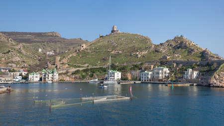 Balaklava, Crimea - April 06: The settlement on the southwest coast of the Crimea on April 06, 2019  in Balaklava, Crimea.