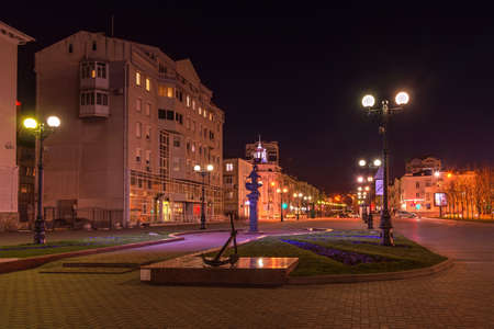 Novorossiysk, Russia - March 24: Novorossiysk at night on March 24, 2019 in Novorossiysk, Russia.