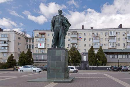 Novorossiysk, Russia - March 25: Unknown sailor's monument in Novorossiysk on March 25, 2019 in Novorossiysk, Russia. Editöryel