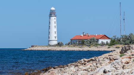Sevastopol, Crimea - June 02: Lighthouse of Chersonese in Sevastopol on June 02, 2018 in Sevastopol, Crimea. Editöryel