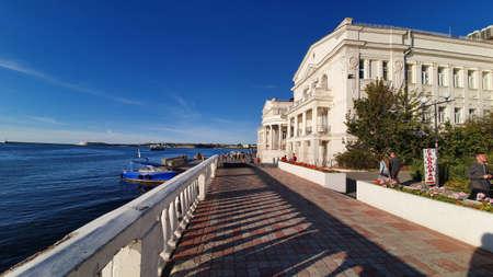 Sevastopol, Crimea - October 12: Art bay in Sevastopol on October 12, 2019 in Sevastopol, Crimea.
