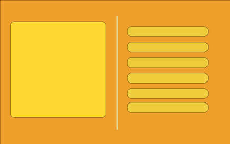 Vector illustration of the orange business card. Procurement for the execution of the business card, the letter, a card.