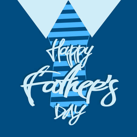 Happy Father Day text with blue pattern design.