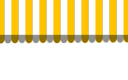 Orange striped carnival information ticket window booth. Vector illustration. Illustration