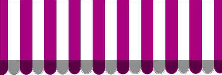 Purple striped carnival ticket window booth. Vector illustration.