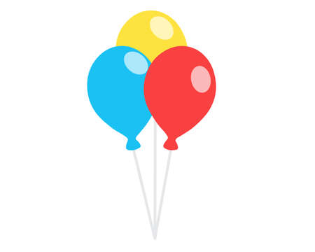 Set of colored balloons on a white background. Vector illustration. Ilustracja