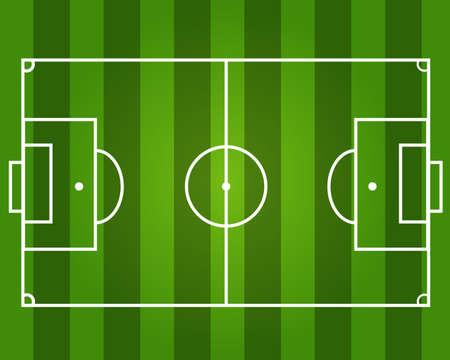 Football field of Green background on Colorful vector illustration Standard-Bild - 97768763