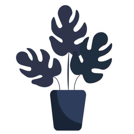 House plant in a pot.  illustration. Isolated on a white background. Reklamní fotografie