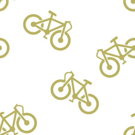 Bike pattern seamless. Vector illustration. Isolated white background Иллюстрация