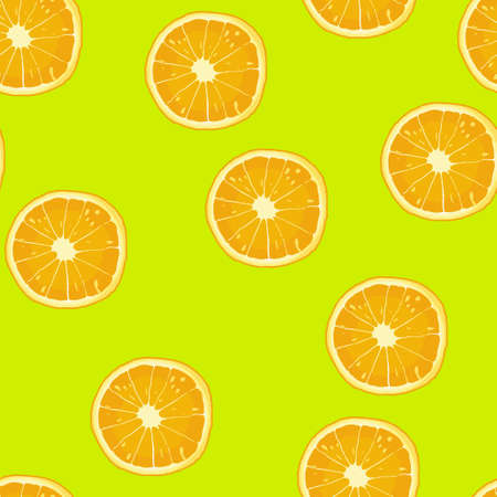 Slice orange pattern seamless. Vector illustration. Food wallpapers from citrus fruit.