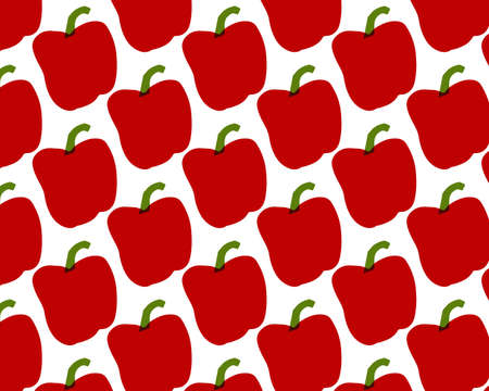 Seamless pattern of peppers.  illustration. Food wallpapers from vegetables.