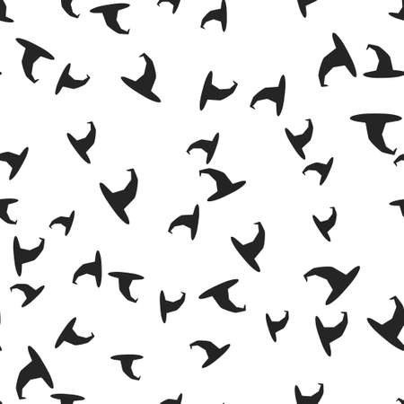 Witch hat Halloween pattern seamless. Vector illustration. Isolated white background. All Saints Eve.