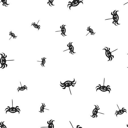 Spider Halloween seamless pattern. Vector illustration. Isolated white background. All Saints Eve.