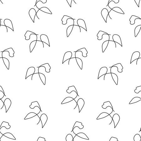 Gorilla animal pattern seamless. Vector illustration. Isolated white background.