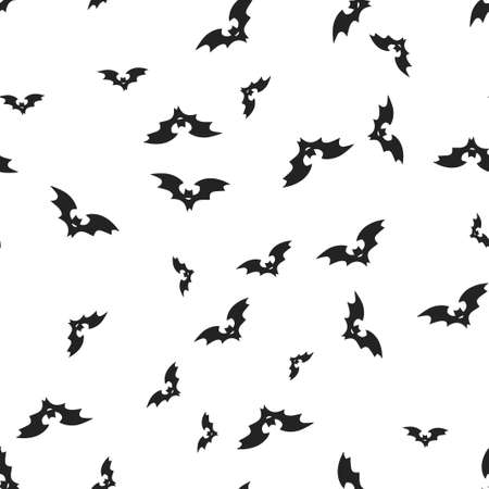 Rearmouse Halloween pattern seamless. Vector illustration. Isolated white background. All Saints Eve.