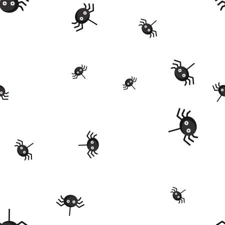 Spider eyed Halloween pattern seamless. Vector illustration. Isolated white background. All Saints Eve.