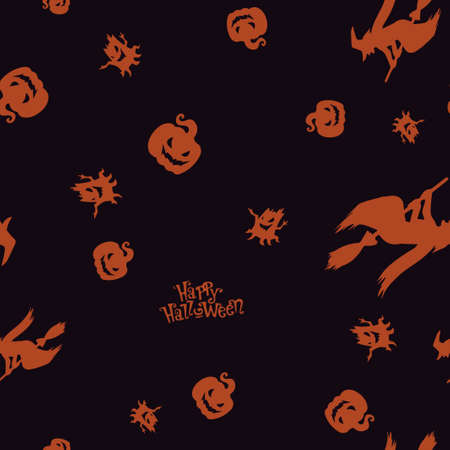 Seamless pattern Halloween. Vector illustration. Bright background. All Saints Eve.