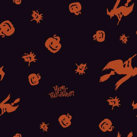 Seamless pattern Halloween. Vector illustration. Bright background. All Saints Eve.