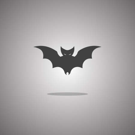 Bat silhouette. Vector illustration. Isolated white background.