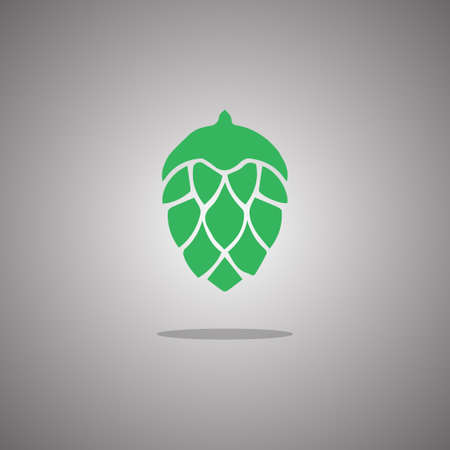Hop beer. Vector illustration. Gray background with gradient