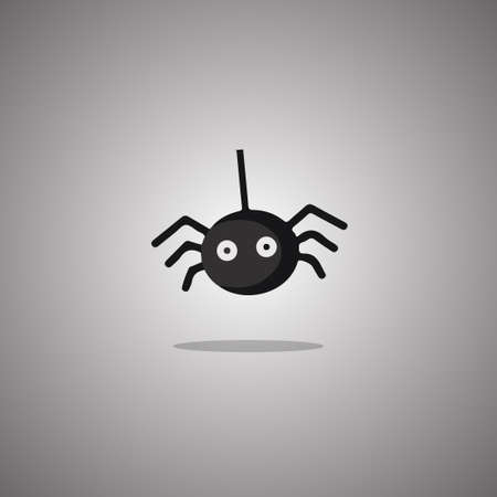 Spider Halloween. Vector illustration. Isolated white background.