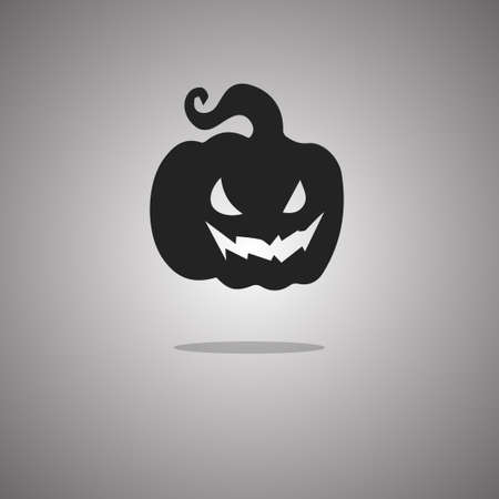 Gourd Halloween. Vector illustration. Gray background with gradient.