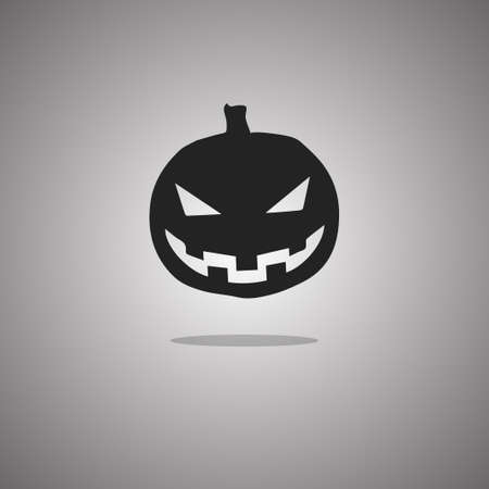 Pumpkin Halloween. Vector illustration. Gray background with gradient.