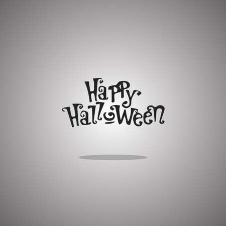 Happy Halloween text.  illustration. Gray background with gradient. 版權商用圖片