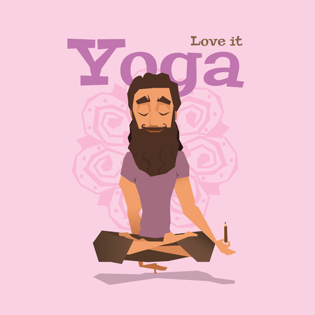 Violet Yoga pose skill vector illustration