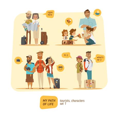 Postacie Travel Collection. Czas wakacji. EPS 10 Ilustracje wektorowe